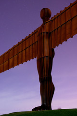 Moonlit Angel (ratboy2008) Tags: england moon angel unitedkingdom north oktoberfest tyne gateshead moonlit anthony moonlight trippy gormley angelofthenorth tyneandwear dyxum