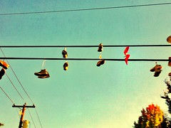 over processed shoes on a wire (roland) Tags: red vancouver shoes rolandtanglaophoto shoesonawire shoefiti n8photo ipadedit filtersofdoom snapseed filtersofdestiny snapseedphoto