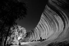 Midnight at Wave Rock (mrfuller) Tags: bw music nature festival landscape geology westernaustralia waverock ngen hyden dsc38802 wpaper
