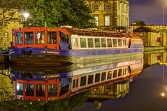 Day 231 - (04/10/12) (James-Brady) Tags: reflection ferry night boat canal sheffield victoria basin reflect quays hdr 365project