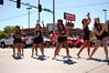 Guns raised (radargeek) Tags: oklahoma pom cheerleaders parade highschool cheer mustang ok pon 2012 36th westerndays