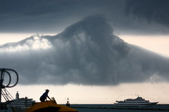 Storm cloud over Lake Michigan