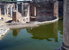 """Maritime Theater,"" Hadrian's Villa, view of bath beyond moat"