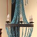 59. Unusual Turquoise Strand Chandelier