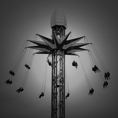 Star Flyer Chairoplane Southbank (stevedexteruk) Tags: white black london monochrome star flyer october ride fairground south group machine bank swing southbank attraction 2012 starflyer chairoplane chairplane mellors wonderground