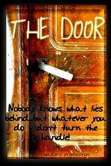THE DOOR (Tinina67) Tags: door film movie poster handle comedy walker horror production tina layers suspense odc photoshopelements ourdailychallenge tinina67