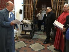 Joined by a verger .. (goforchris) Tags: cumbrae cathedraloftheisles scottishepiscopalchurch anglican celebrations 140years dioceseofargyllandtheisles choralevensong preparations
