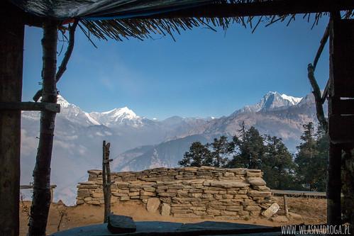 Pierwsze widoki na Annapurnę
