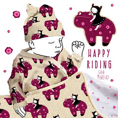 happyriding (Gaia Marfurt) Tags: spoonflower patterndesign pattern kids fashion homedecor illustration fabric fabricdesign