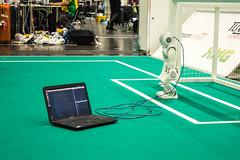 RoboCup 2016 Leipzig - Debugging (Ubahnverleih) Tags: robocup roboter fusball debugging programmierung programming robot soccer roboterfusball fussball football leipzig messe computer laptop notebook netzwerk training
