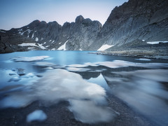 Icebergs (Samuvalleys) Tags: lake mountains color nature river blue summer snow espaa francia france spain ice long exposure olympus iceberg adventure lago huesca hielo montaas pirineos ordesa pineta marbor pyrenees tucarroya