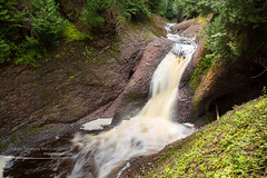 Gorge Falls on the Black River Scenic Byway (Craig - S) Tags: gorgefalls waterfall blackriver scenicbyway scenic landscape michigan upperpeninsula outdoors nature beauty travel tourism flowing river longexposure lush foliage rock sandstone wilderness forest trees gorge canyon