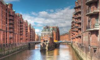 Hamburg - Wasserschloss in der Speicherstadt