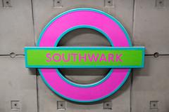 Roundel - Michael Craig-Martin (photosam) Tags: london england unitedkingdom fujifilm xe1 fujifilmx prime raw lightroom xf35mm114r roundel londonunderground artontheunderground tfl michaelcraigmartin colour pink green art public free modernist modern xf35mmf14r