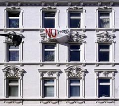 - (txmx 2) Tags: hamburg window ottensen protest nowar war irak iraq 2003 bush archive