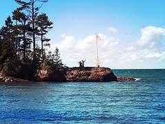 Me + Bryan (thechelseagrin) Tags: michigan upperpeninsula keweenawpeninsula nature lakesuperior greatlakes flag theconnoisseurs