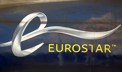Eurostar Logo on the side of an e320 set. (DesiroDan) Tags: highspeed1 ebbsfleetinternationalstation eurostar eurostare320 eurostarclass374 class374velaro uktrains ukelectricunits highspeedtrainsintheuk britishrailclass374
