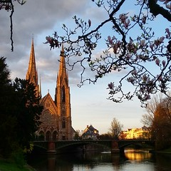 Sunset (Marietta A.) Tags: sunset strasbourg alsace france river bridge spring2016