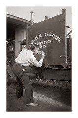 Fashion 0284-46 - Signwriter (Steve Given) Tags: socialhistory familyhistory fashion man painter signwriter truck