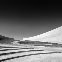 Stairwaves (frank_w_aus_l) Tags: riemst belgium brug monochrome shoelace people wave architecture nikon vlaanderen belgien be stairs art concrete bw noir blanc d800