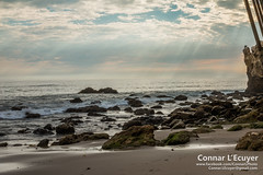 Rocky Light (Connar L'Ecuyer) Tags: socal hdr beach landscape sunset cloud rocks ocean cloudy goldenhour malibu elmatador clouds