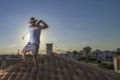 Golf Anywhere (Jorn Eriksson) Tags: portrait roof torrevieja golf golfer golfing sport rooftop