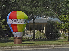 YARD SALE (NC Cigany) Tags: street cute green home sign funny south balloon amusing yardsale 5091 20100918