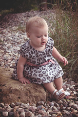 avaleigh :D (colorfulclare) Tags: portrait baby cute love nature beauty up silhouette ava youth print children kid toddler rocks colorful soft clare child dress young adorable happiness leopard dreamy leigh setting laurel dressed avaleigh