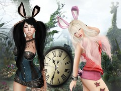 You're Late! (:HF:  ) Tags: white black bunny halloween fashion fairytale photoshop blog costume ears mandala ring blueberry fairy secondlife bloggers blah heels late editing manip teatime omen aliceinwonderland pocketwatch pileup yuna ison shakeup mothergoose gawk gacha marchhare magika letis suicidalunborn alvulo vikadesign