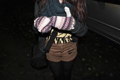 Mittens mittens mittens (Lilyredneck) Tags: camera brown night scarf dark nirvana gloves shorts mittens