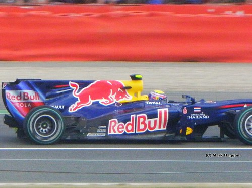 Mark Webber in his Red Bull Racing F1 car at the 2010 British Grand Prix