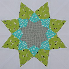 Block for QuiltyGirl2 (jenjohnston) Tags: paper quiltblock pieced quiltingbee 3x6bee