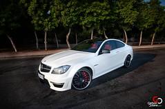 2012 Mercedes C63 AMG-7.jpg (CarbonOctane) Tags: auto test white car sport speed magazine mercedes drive october dubai review east german carbon middle amg 2012 octane c63 gargash 2012c63amg carbonoctanecom