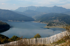 Lake Bicaz (Damaris Galpaian) Tags: blue sky white mountain lake love water fence peace village ground grace clear forests bicaz ceahlau abigfave mountants