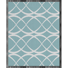 Dune Wool Rug in  Surf and Natural (on wood) (PURE Inspired Design) Tags: customfurniture organicfabric ecofriendlyfurniture woolrugs