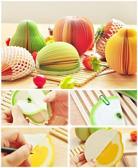 Fruit style memo pad (DX_fans) Tags: orange apple pumpkin colorful label pear dx memopad dealextreme dxcom fruitstylememopad