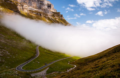 Fog (ceca67) Tags: mountain alps nature fog landscape photography schweiz switzerland photo nikon mount 2012 klausenpass d90 ceca ceca67
