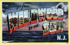 Greetings from Wildwood-by-the-Sea, New Jersey - Large Letter Postcard (Shook Photos) Tags: ocean beach newjersey linen postcard postcards greetings wildwood atlanticocean 128 bigletter largeletter largeletterpostcard 14426 linenpostcards wildwoodbythesea largeletterpostcards bigletterpostcard bigletterpostcards wildwoodbytheseanewjersey linepostcard