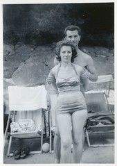 The Beautiful People - Young Couple (TempusVolat) Tags: old woman man cute sexy girl beautiful beauty lady vintage ball photo nice scans couple pretty deckchair scanner good curves like pb curvy best lovers scan thigh thighs figure attractive scanned favourites keep epson scanning curve favourite curved swimsuit gw myfavourites gareth liked perfection swimwear tempus shapely keeper v200 thebeautifulpeople verypretty igure verybeautiful curvywoman photoscanner epsonperfection volat mrmorodo tempusvolat