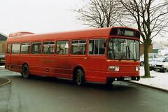 TPF696S  Hednesford 1993 (Walsall1955) Tags: bus 25 mrn ln hednesford 696 leylandnational midlandrednorth tof696s