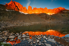 Hidden Treasure (landESCAPEphotography | jeff lewis) Tags: california ca travel sunset usa mountains reflection jeff nature water sunrise canon landscape photography hiking scenic lewis canyon sierra trail backpacking 5d sierranevada sequoia landescape alpenglow highsierra kaweah landescapephotography