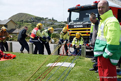 Wellington Emergency Services Hi-Angle Rope Rescue Training (111 Emergency) Tags: nzfs porirua fire brigade wellington free ambulance rescue squad nz new zealand police sar search high angle rope titahi bay