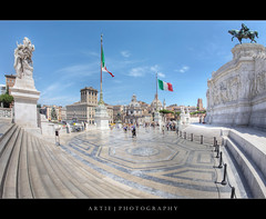 The Victor Emmanuel II Monument, Rome, Italy (II) :: HDR (:: Artie | Photography ::) Tags: italy rome monument museum architecture photoshop canon king engineering structure fisheye marble 15mm f28 ef hdr 1935 artie piazzavenezia altaredellapatria cs3 ilvittoriano capitolinehill vittorioemanueleii 3xp photomatix victoremmanuelii tonemapping tonemap museocentraledelrisorgimento 5dmarkii 5dm2