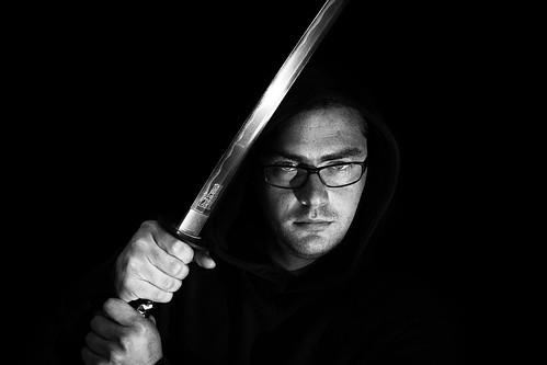 bw white man black canon glasses blackwhite eyes sword katana hattorihanzo 5dmkii eos5dmarkii ef100mmf28lmacroisusm stefanledwina niksilverefexpro2