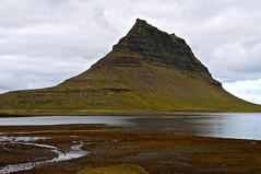 Kirkjufell (Rukasu1) Tags: mountain seaweed water iceland 1855mm nikkor peninsula kirkjufell 2012 snfellsnes westerniceland