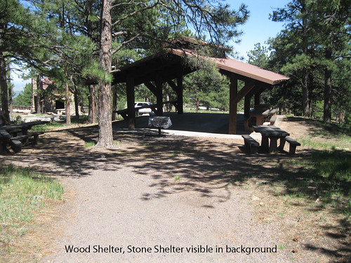 Photo - Wood Shelter with Stone Shelter in the background