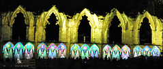 National Dancers (littlestschnauzer) Tags: york city uk light england art history tourism festival wall gardens museum dark evening nikon october dancers roman yorkshire gothic illumination style arches tourists historic event national walls annual build northern wonderland 2012 projections illuminating d5000