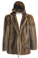 L30. Rich Brown Mink Jacket and Hat
