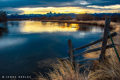 Teton Sunrise at Cache Bridge (James Neeley) Tags: sunrise idaho grandtetons tetons driggs tetonriver jamesneeley idahoside cachebridge