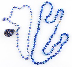 L18. Two High End Blue Rhinestone Necklaces